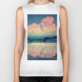 Admiring the Clouds in Kono Biker Tank