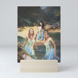 "Sirens (""Charm of of the Ancient Enchantress"" Series) Mini Art Print"