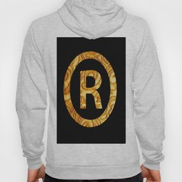 """R"" Golden decorative letter Hoody"