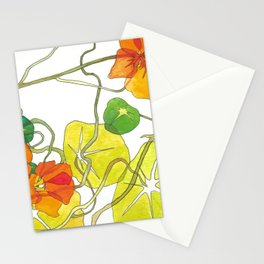 Nasturtiums Botanical Print Stationery Cards