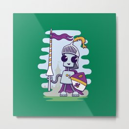 Ned the Knight Metal Print
