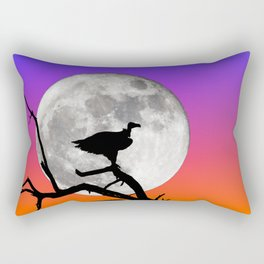 Vulture with Supermoon Rectangular Pillow
