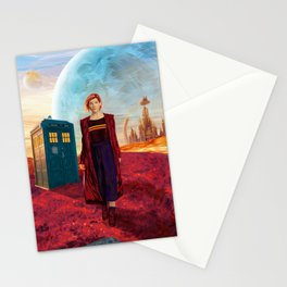 13th Doctor at Gallifrey Planet Stationery Cards