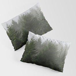 Foggy Trees Pacific Northwest Pillow Sham