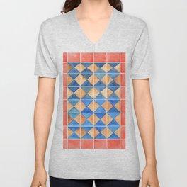 Tile Pattern Unisex V-Neck