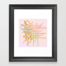 rainbow floral Framed Art Print