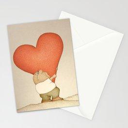 Heavy Heart (Retro version) Stationery Cards