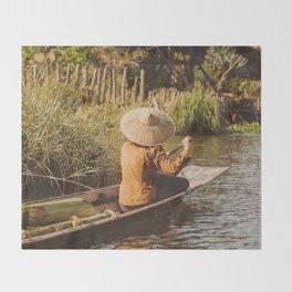 Vivid scene in Burma Throw Blanket