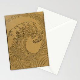 Vintage Golden Wave Stationery Cards