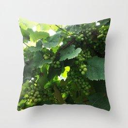 Green grapes Nature Design Throw Pillow