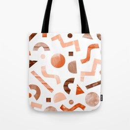 geometric shapes peach Tote Bag