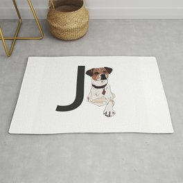 J is for Jack Russell Terrier Rug
