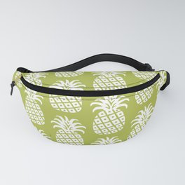 Mid Century Modern Pineapple Pattern Chartreuse Fanny Pack