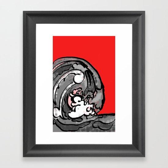 Smile and Wave  Framed Art Print