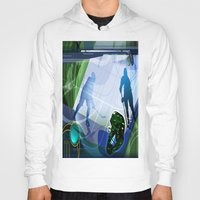 hockey Hoodies featuring Hockey by Robin Curtiss