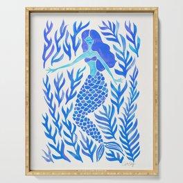 Kelp Forest Mermaid – Blue Palette Serving Tray