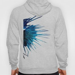 Betta Fish Blue Tail Abstract Modern Left Hoody