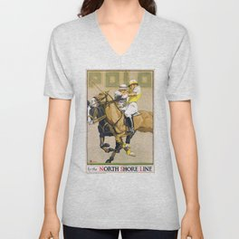 1923 Polo By The North Shore Line Transit Poster Unisex V-Neck