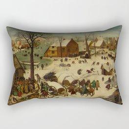 "Pieter Bruegel (also Brueghel or Breughel) the Elder ""The Numbering at Bethlehem"" Rectangular Pillow"