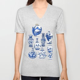 Blue Vases Unisex V-Neck