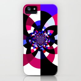 Magenta Purple Indigo Kaleidoscope Mandala iPhone Case