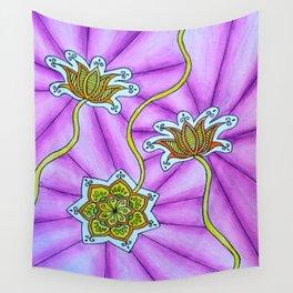 Lotus Flowers Wall Tapestry