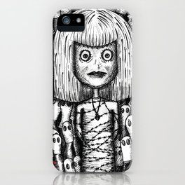 """sorry, it's not our fault"" by Anxiety and Gretel iPhone Case"
