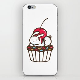 Chubby Bunny on a cupcake iPhone Skin