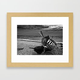 denise and the pier Framed Art Print