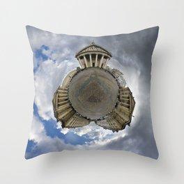 Stéréographique Panthéon, Paris Throw Pillow