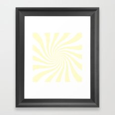 Swirl (Cream/White) Framed Art Print