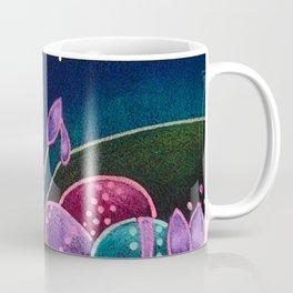SPRING TINY OWL PAINTING EASTER EGGS Coffee Mug
