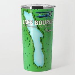 Lake Bourget Jura Mountains department of Savoie, France Map Art Print Travel Mug