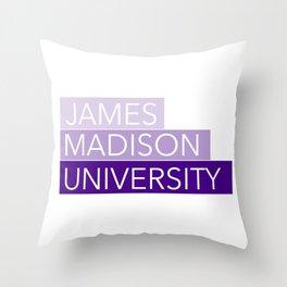 JMU Blocks Throw Pillow