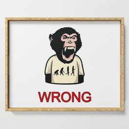 Monkey Chimpanzee Wrong Wrong Evolution Mistake Serving Tray