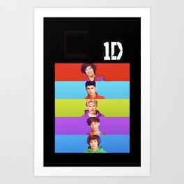 One Direction - Harry Styles, Louis Tomlinson, Niall Horan, Liam Payne & Zayn Malik Art Print