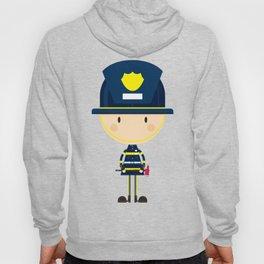 Cartoon Big Head Fireman Hoody