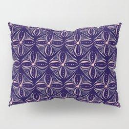 Dark Watercolor Tile Pillow Sham