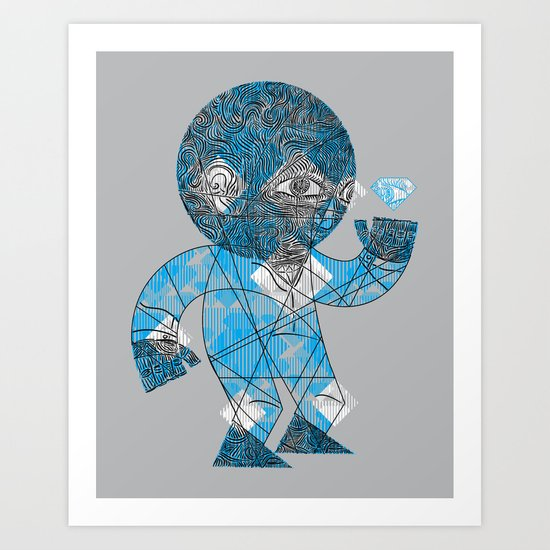 mesmerized by the light blue diamond Art Print