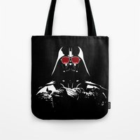 darth vader Tote Bags featuring Darth Vader by eARTh