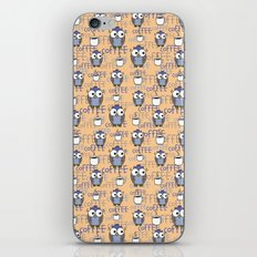 Owl orange pattern  iPhone & iPod Skin