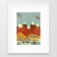 switzerland Framed Art Prints featuring Switzerland by Kakel