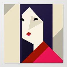 geometric girl Canvas Print
