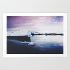 glacial lagoon Art Print