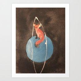Fox and Uranus Art Print