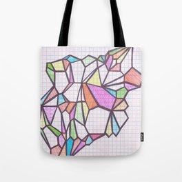 Geometric Rainbow Glacier Tote Bag