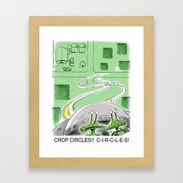 Crop Circles Framed Art Print
