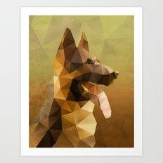 The German Shepherd Art Print