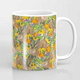 Jackalope Wildflower Florals Coffee Mug