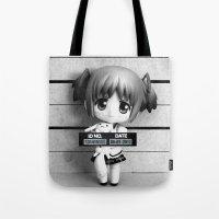 madoka Tote Bags featuring MADOKA LINEUP by Christophe Chiozzi